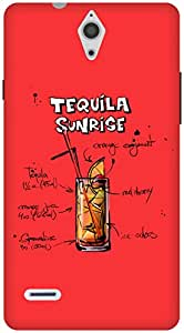 The Racoon Grip Cherry Tequila Sunrise hard plastic printed back case / cover for Huawei Ascend G700