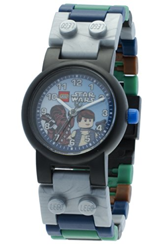 lego-star-wars-han-solo-and-chewbacca-minifigure-childrens-quartz-watch-with-multicolour-dial-analog
