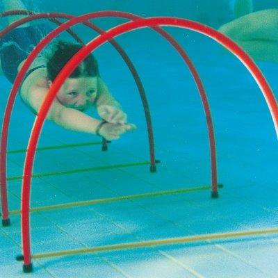 Schwimmbad Dive Spiel Spaß Unterwasser Schwimmen Tauchen Hälfte Hoops 4Stück