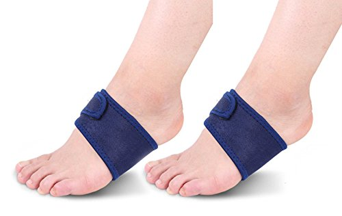 iZoeL 2 Paar Plattfuß Bandage Arch Support Einlagen Einlegesohlen Fuß Unterstützung Korrektur Schuheinlagen für Senkfuß Plattfuß Hohlfuß