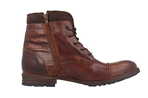 MUSTANG femme boots marron chaussures en matelas grande taille Marron - Marron