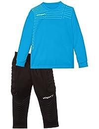 Uhlsport Match Set de Portero, niños, Azul Celeste/Amarillo pálido, M
