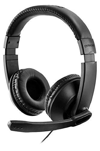 Gioteck XH100 Stereo Gaming Headset, Multi-Plattform Kopfhörer, Kabelgebunden Wired, Noise-Cancelling Mikrofon, für PC, PS4, Xbox One, Nintendo Switch, Mac, schwarz