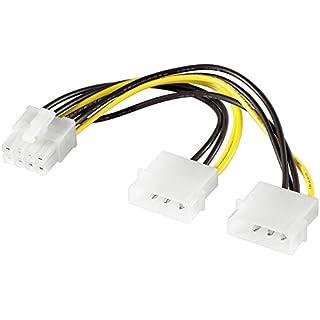 Alcasa 5021-8Pex 0.13m Internal PCI-E (8-Pin) 2x Molex (3-Pin) Black, White, Yellow-CABLE (Male/Female, PCI-E (8-Pin), 2X Molex (3-Pin), Right, Right, Black, White, Yellow)