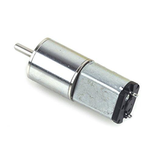 High Torque DC Getriebe Motor Getriebemotor Leistungsstark 16mm 6V 6RPM Hohes Drehmoment Elektrisch Mini - Silber