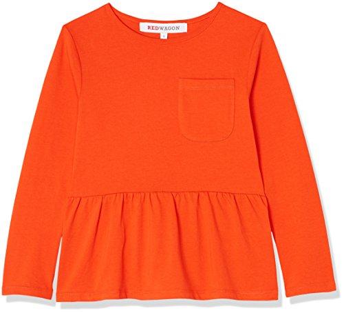 RED WAGON Mädchen Sweatshirt mit Schößchen, Orange, 146 (Herstellergröße: 11 Jahre) (Kleid Pullover Red)
