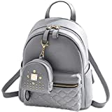 Sleema Fashion Women's Girls Fashion PU Leather Mini Casual Backpack Bags For School, College, Tuition, office With Small Poc