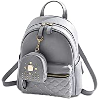 Sleema Fashion Women's Girls Fashion PU Leather Mini Casual Backpack Bags For School, College, Tuition, office With…