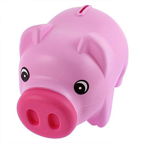 DealMux Schwein-Form-Geld-Bargeld Penny Spartopf Box Münzen-Piggy Bank Fuchsia Rosa