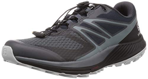 Salomon Sense Escape 2, Scarpe da Trail Running Uomo, Grigio (Ebony/Stormy Weather/Pearl Blue), 42 2/3 EU
