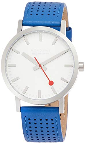 Mondaine svizzero ferrovie orologio da uomo blu perforato fascetta a660.30360.16sbd