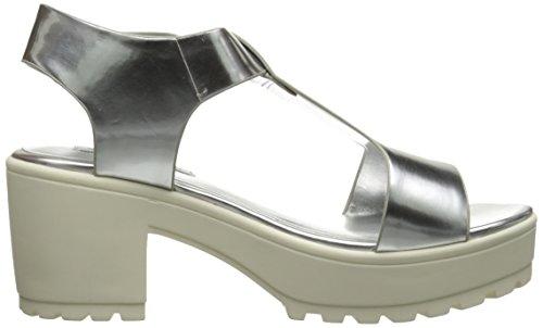 Steve Madden Stefano, sandales femme silver