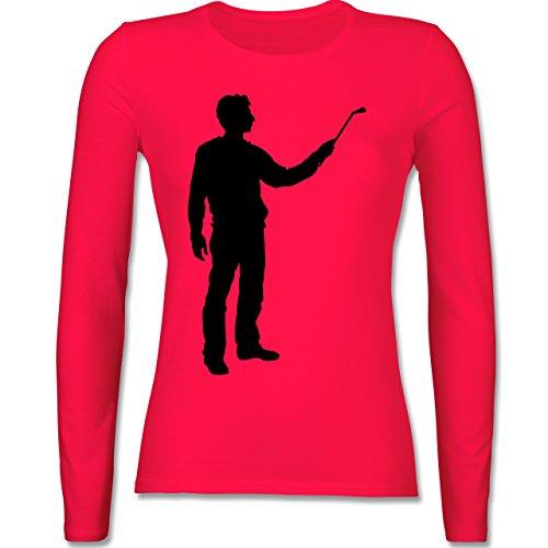 Handwerk - Maler - tailliertes Longsleeve / langärmeliges T-Shirt für Damen Rot