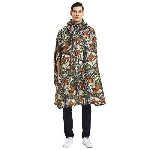 BURFLY Herren Mode Sommer Camouflage Belted Hooded Military Wasserdichter Bergsteigen-Regenmantel Männer Regenmantel Belted Kapuze