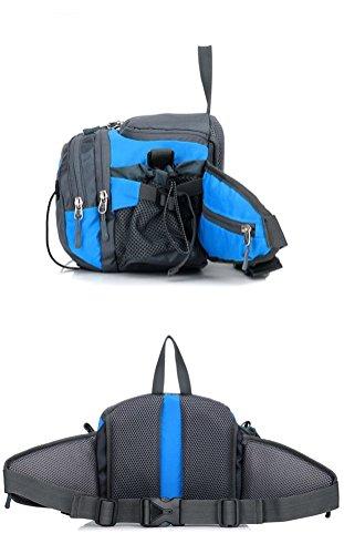 Fortuning's JDS Multifunktions-wasserdichte Nylonsportrucksack Hüfttasche Umhängetasche Blau