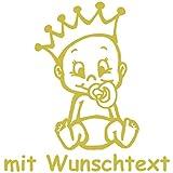 Babyaufkleber mit Name/Wunschtext - Motiv 732 (16 cm) - 20 Farben und 11 Schriftarten wählbar