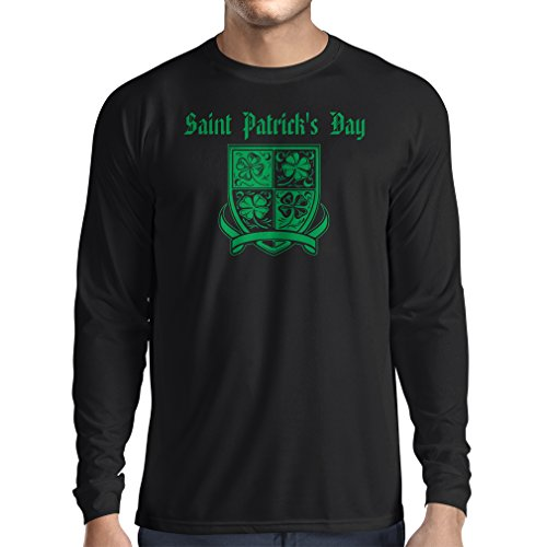 T-Shirt mit langen Ärmeln Saint Patrick's day Shamrock symbol - Irish party time (Small Schwarz Mehrfarben)