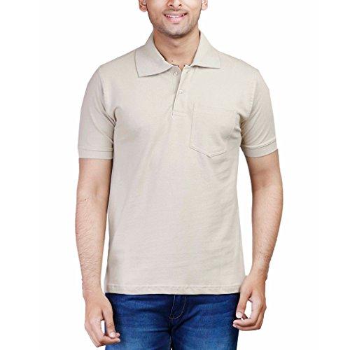 FLEXIMAA Men's Cotton Polo T-Shirt 41SZi8cMQiL