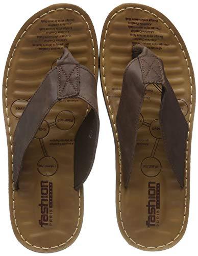 Gucci Herren Leder (INFLATION Herren Sandalen Herren Pantoletten Essential Beach Sandal Zehentrenner Junge Pantoletten Flip Flop Hausschuhe für Männer Classic Clogs Braun 38 EU)