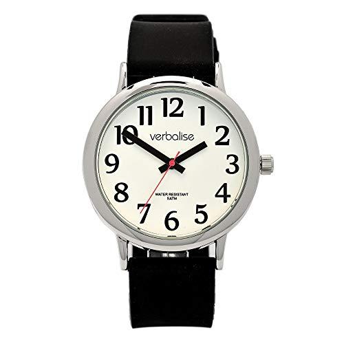 Verbalise Herren Armbanduhr wasserabweisend mit Silikon Strap, schwarz