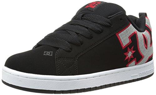 DC Shoes Court Graffik, Chaussures de skate homme Noir/gris/rouge