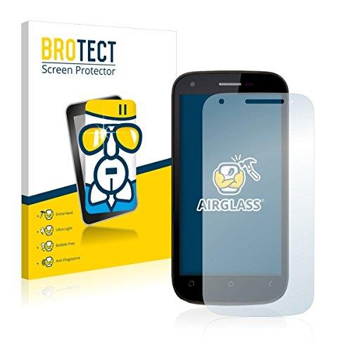 BROTECT AirGlass Premium Glasfolie für Wiko Cink Peax 2 (extrahart, ultradünn, hochtranzparent, Anti-Fingerprint, flexibel)