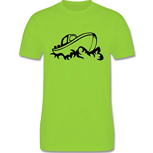 Schiffe - Boot - Herren Premium T-Shirt Hellgrün