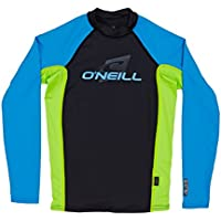 O'Neill Youth Skins L/S Crew V57 Blk/Lime/Brtblu 4 (Kids)