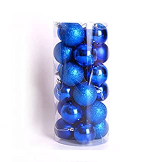 WopenJucy – Bolas de Navidad para Colgar en centros de Mesa (24 Unidades, 4 cm), Color Rojo