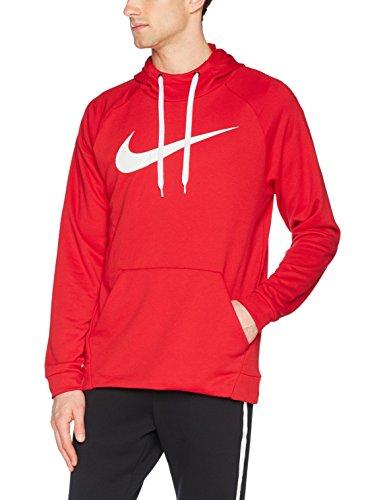Nike M NK Dry Po Swoosh, Sweatshirt Universität rot/Weiß