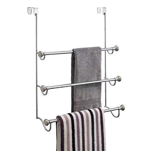 InterDesign 79150EU York Handtuchhalter zum Hängen über die Duschwand, zweifarbig