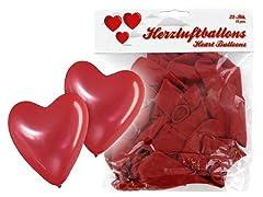 Idea Regalo - Set di palloncini a forma di cuore 25 PZ in rosso matrimonio nozze festa evento compleanno cerimonia decorazione allestimento romantico amore san valentino