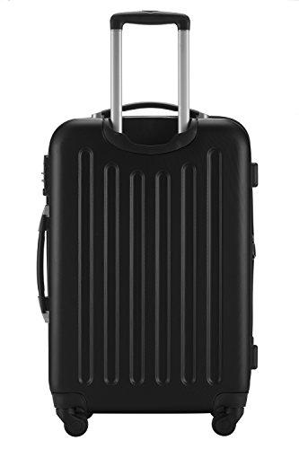 Hauptstadtkoffer® 3er Kofferset Hartschale Trolleys schwarz-matt 45L,80L,125L TSA-Zahlenschloß Modell Spree -