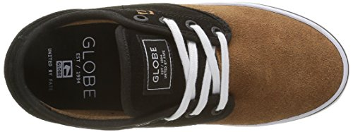 Globe Motley, Baskets Basses Mixte Adulte Multicolore - Mehrfarbig (black/toffee/White)