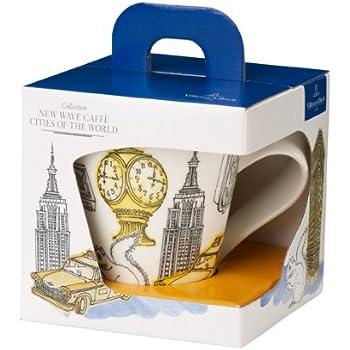 &0,35 Litre Villeroy Boch New Wave Assiette pour café gourmand Villes du monde New York-Coffret cadeau Mug