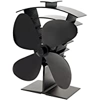 Valiant (FIR361) Premium IV 4-Blade Heat Powered Log Burner & Stove Fan, Black - ukpricecomparsion.eu