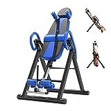 LieYuSport Rückentrainer Klappbar,Schwerkrafttrainer Inversionsbank mit Rückenlehne mit Bequeme Lordosenstütze,Rücken Trainer Höhenverstellrohr,Erhöhen Sie die Durchblutung für Zuhause