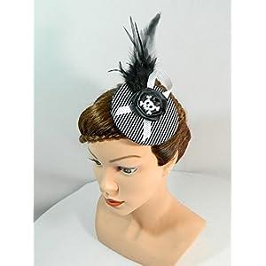 Fascinator Minihat Hütchen Kopfschmuck Gothic