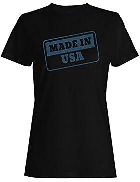 Nuevo Hecho En Sello De Los Eeuu camiseta de las mujeres m240f