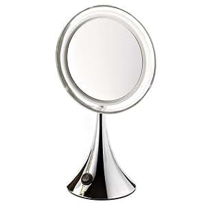 Miroir lumineux led effet loupe grossissant x7 novex - Amazon miroir grossissant ...