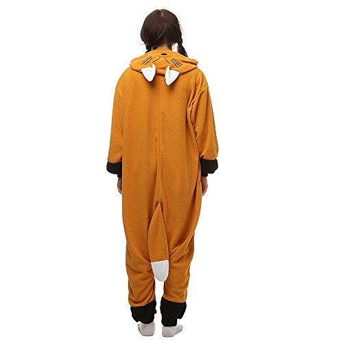 Costume Anime Cosplay Pigiama Animale Unisex Adulti bambini Tuta Intera Flanella LTY32-arancia