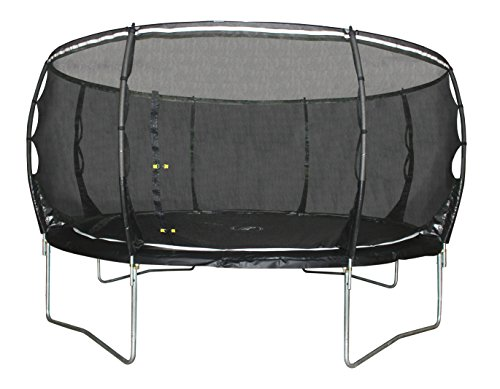 Plum Kids' Magnitude Trampoline and 3G Enclosure - Black, 8 Ft Best Price and Cheapest