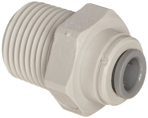 John Guest Straight Adaptor 3/8 inch Tube OD x 1/2 inch NPTF Male Thread (one supplied) by John Guest -