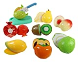#8: Sunshine Realistic Sliceable 15 Pcs Fruits Cutting Play Toy Set With Velcro