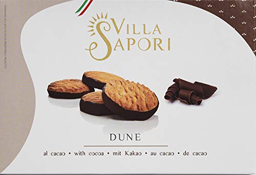 Villa Sapori Traditional Italian Biscuit with butter and cocoa-covered base | Dune 900 g case (6 pack x 150g) (Kuchen Base Karton)