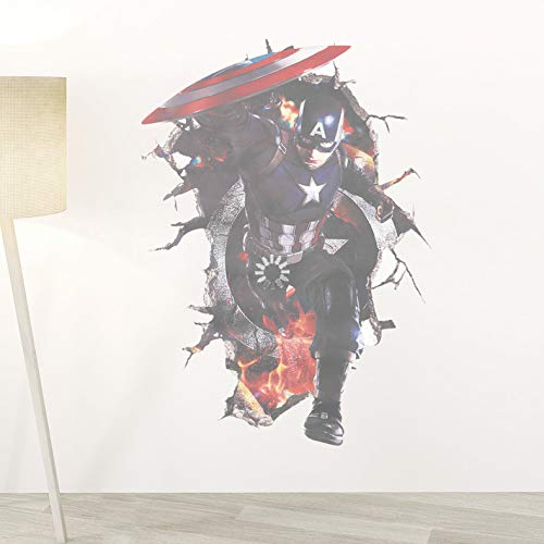 Avengers Superhelden 3D Durch Wandaufkleber Für Kinder Jungen Raumdekoration Poster Tapete ()