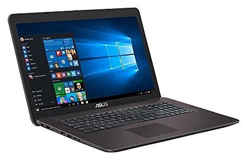 PC portable ASUS K756UW-T4040T - 17.3' LED Full HD Intel Core i5-6200U 4Go 1To NVIDIA GeForce GTX 960M DVD-RW Wi-Fi AC/Bluetooth Webcam Win 10 Famille 64 bits
