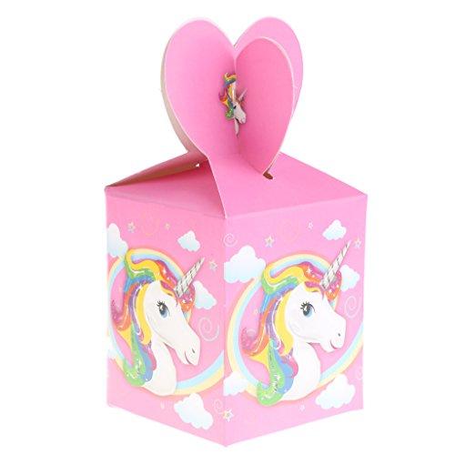 Gazechimp 6 Stück Einhorn Geschenkboxen Gastgeschenke Boxen Kuchen Süßigkeit Kästen für Kinder Geburtstag (18 Geburtstag-kuchen-deckel)