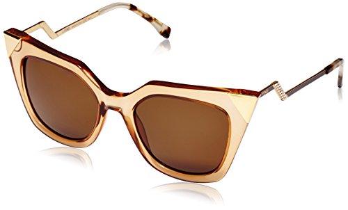 Fendi - occhiali da sole ff 0060/s ec occhi di gatto, donna, msy
