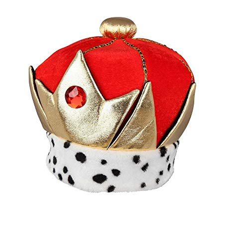 Adult King/ Queen Soft Royal Crown Fancy Dress Accessory